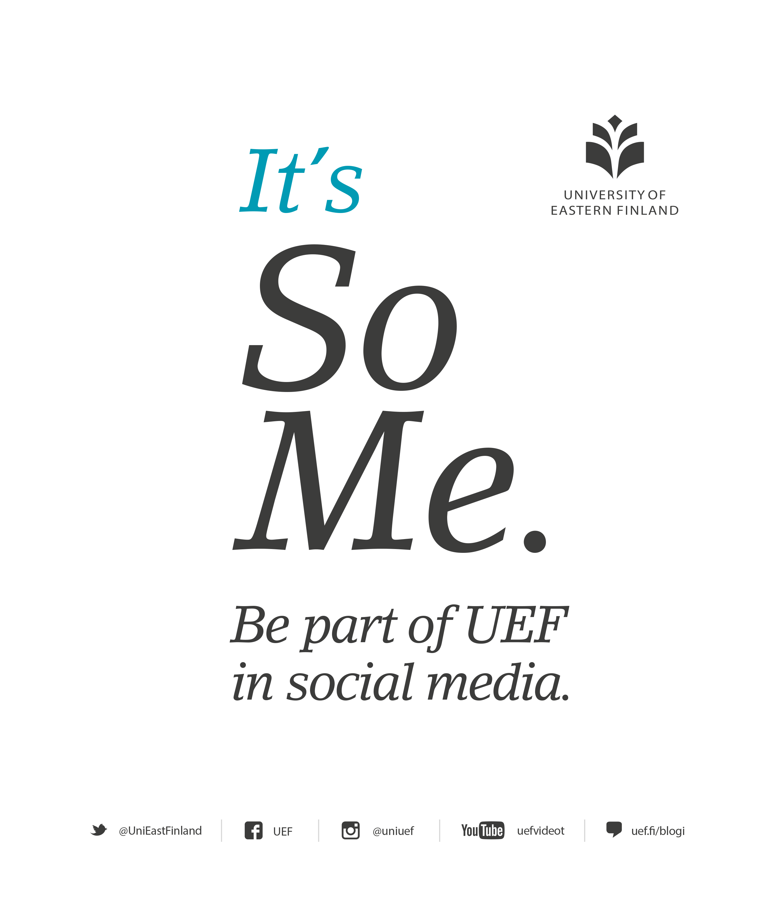 Be a part of UEF in social media.